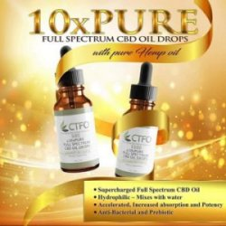 10x Pure CBD Oil Gold